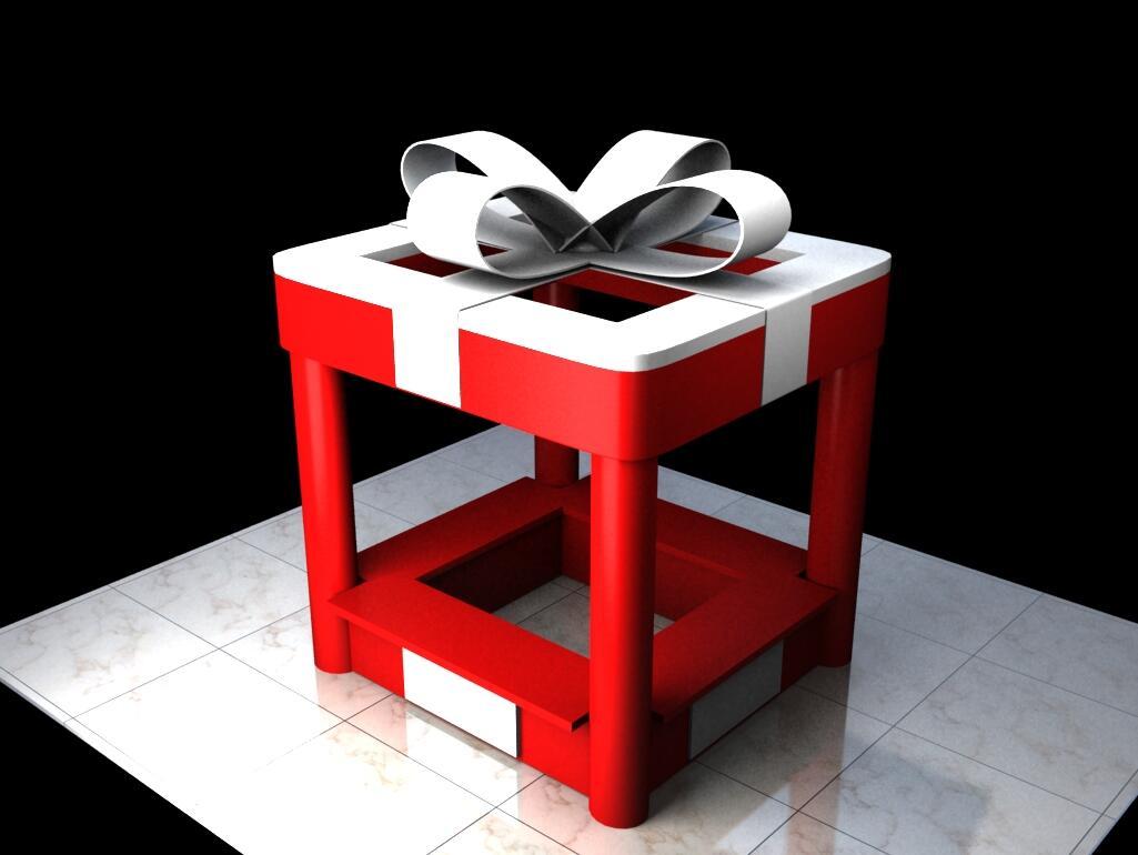 武汉售卖亭,dp点,礼盒,圣诞节美陈,商业美陈,私人订制图片